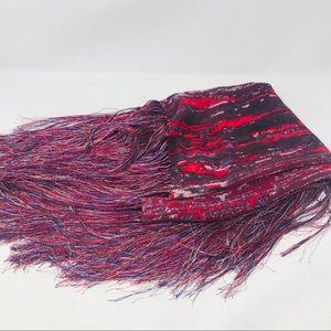 Isabel Marant pour H&M Red Silk Fringe Sca…